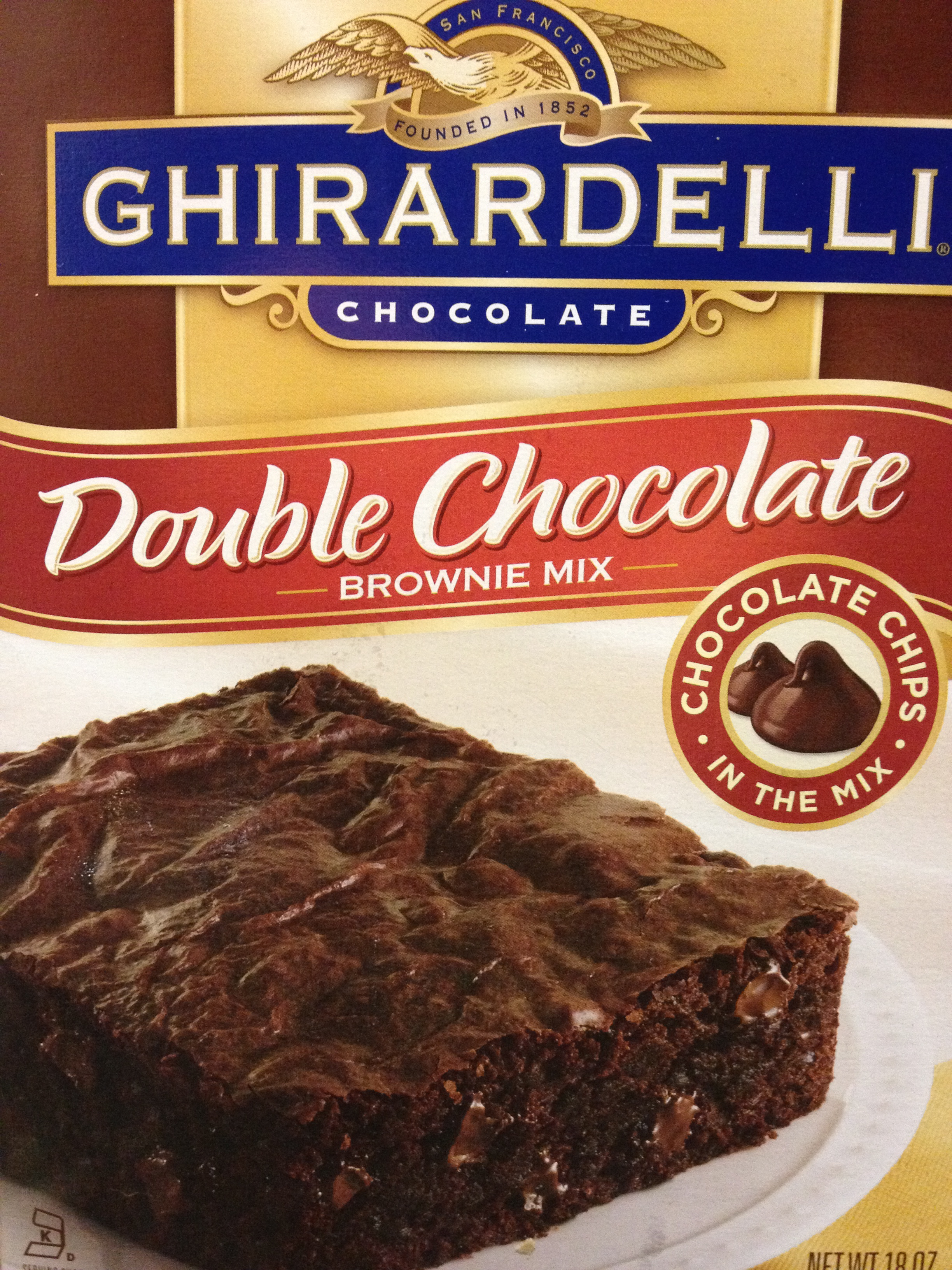 Ghirardelli double chocolate brownie mix directions of Ghirardelli triple chocolate chip cookie mix