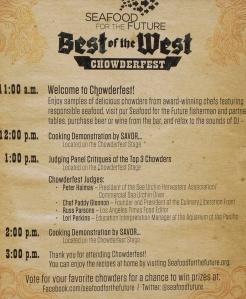 Chowderfest lineup!